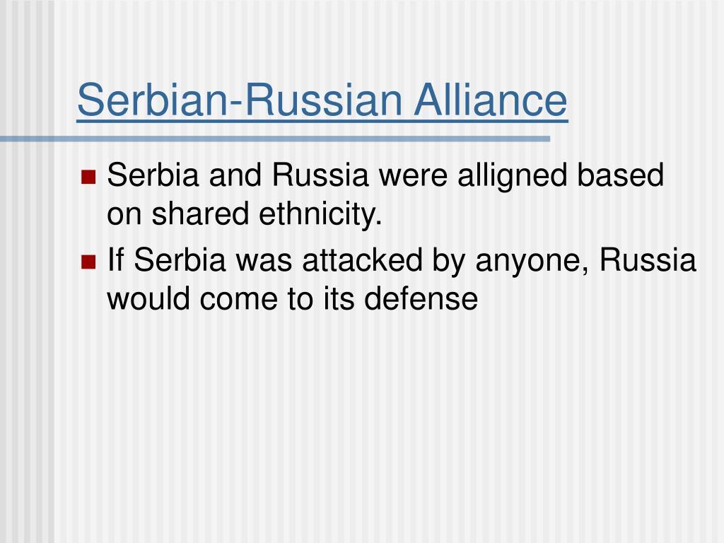 Serbian-Russian Alliance