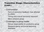 transition stage characteristics cont5