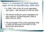 figure 1 3 projected us youth population ages 10 19 by race ethnicity 2000 20259