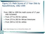 figure 3 5 math scores of 17 year olds by race ethnicity 1982 199973