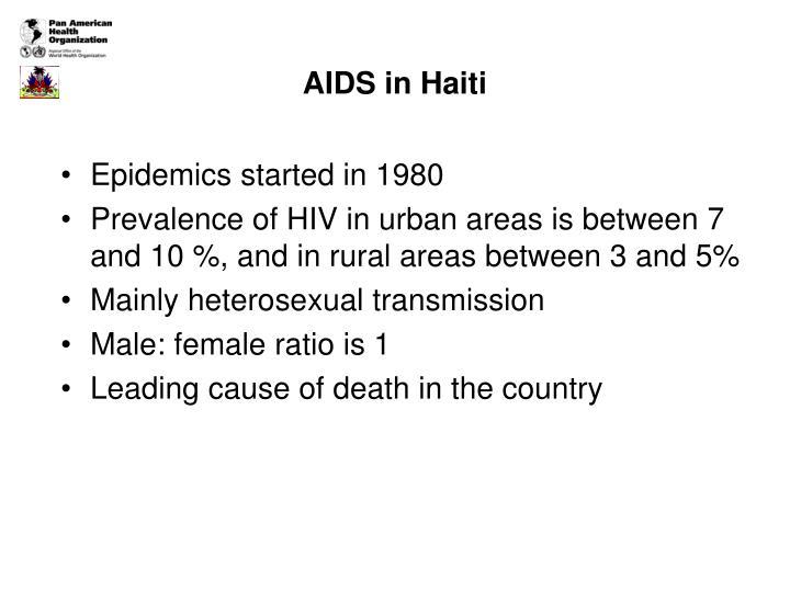 Aids in haiti