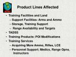 product lines affected