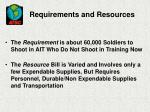 requirements and resources