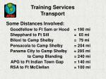 training services transport27