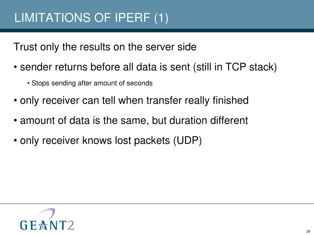 LIMITATIONS OF IPERF (1)