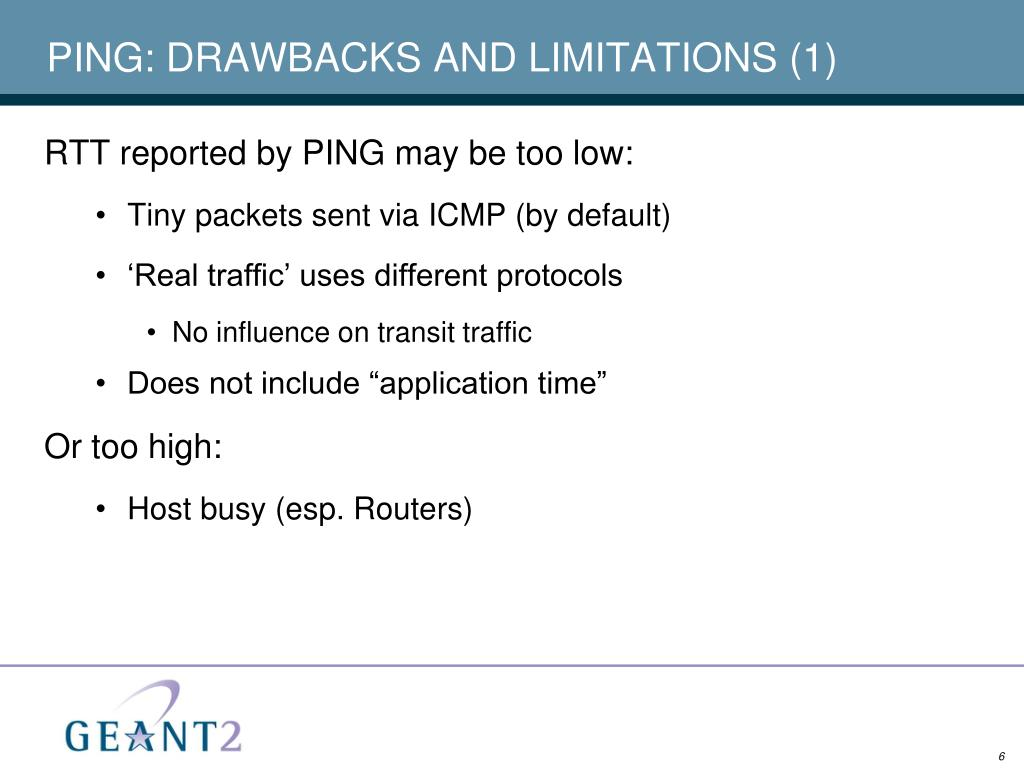 PING: DRAWBACKS AND LIMITATIONS (1)