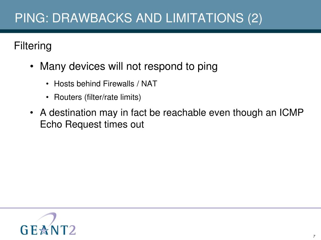 PING: DRAWBACKS AND LIMITATIONS (2)