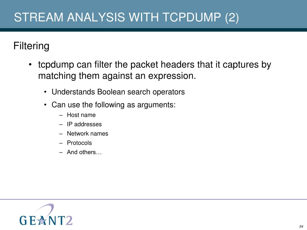 STREAM ANALYSIS WITH TCPDUMP (2)