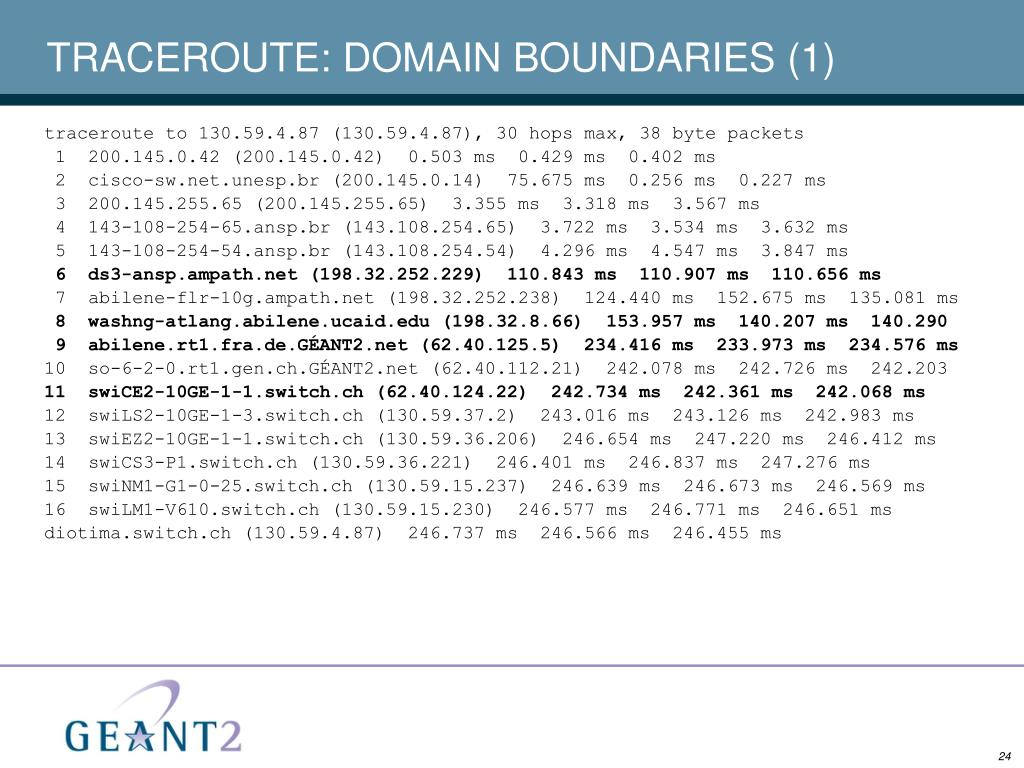 TRACEROUTE: DOMAIN BOUNDARIES (1)