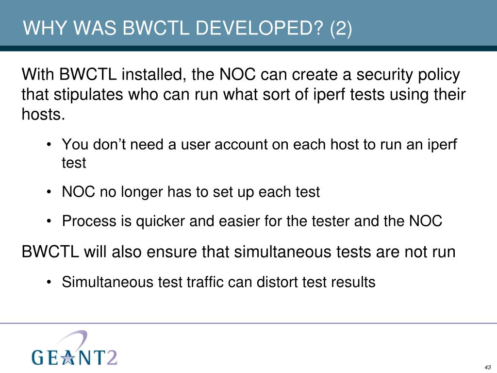 WHY WAS BWCTL DEVELOPED? (2)
