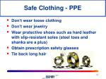safe clothing ppe