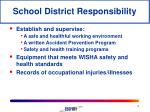 school district responsibility