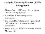 analytic hierarchy process ahp background