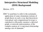 interpretive structural modeling ism background