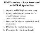 ism procedure steps associated with erm application
