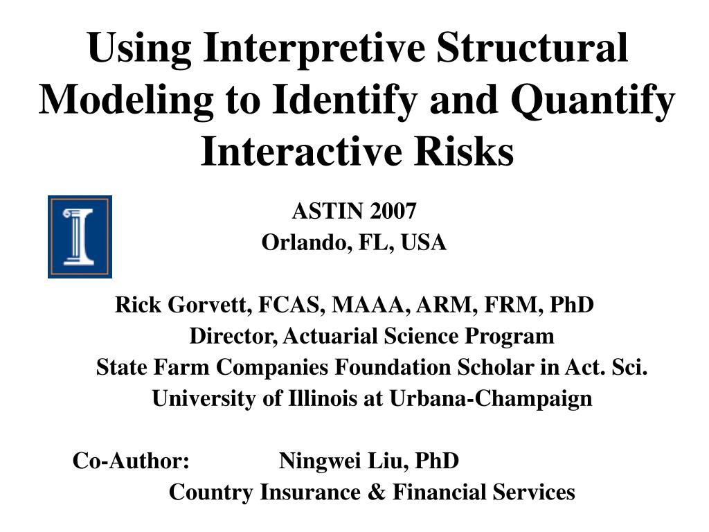 using interpretive structural modeling to identify and quantify interactive risks l.
