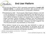 end user platform