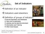 set of indicators