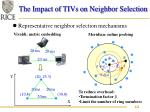 the impact of tivs on neighbor selection