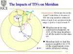 the impacts of tivs on meridian