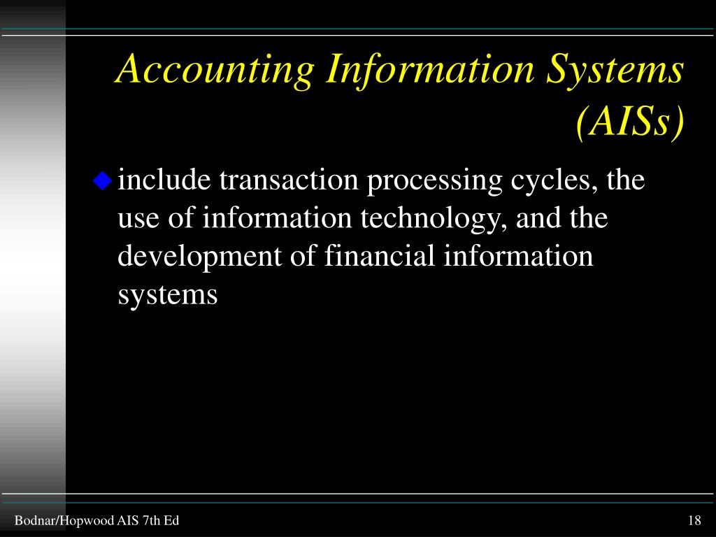 Accounting Information Systems (AISs)