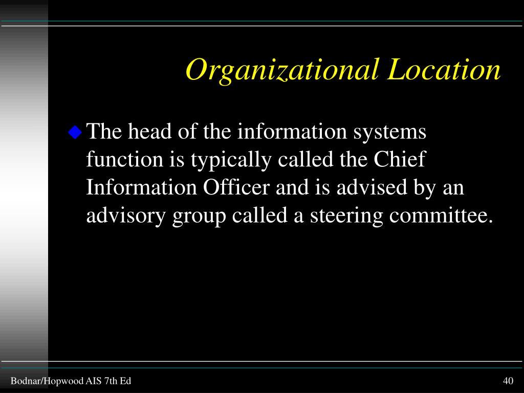 Organizational Location