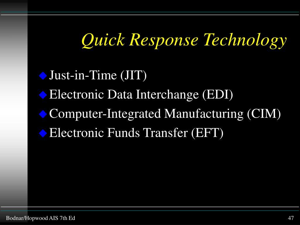 Quick Response Technology