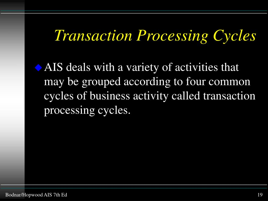 Transaction Processing Cycles