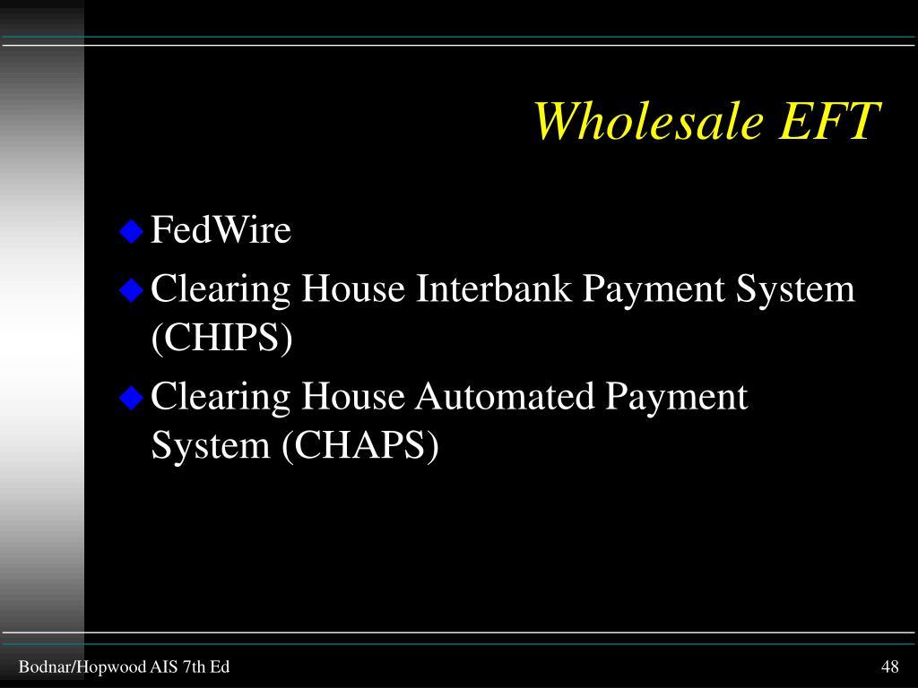 Wholesale EFT