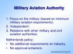 military aviation authority