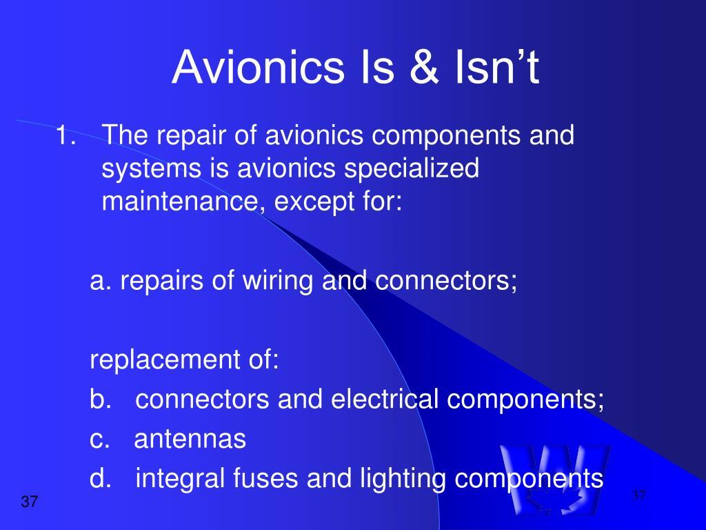 Avionics Is & Isn't
