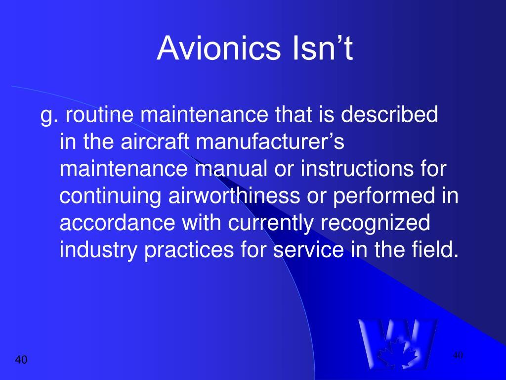 Avionics Isn't