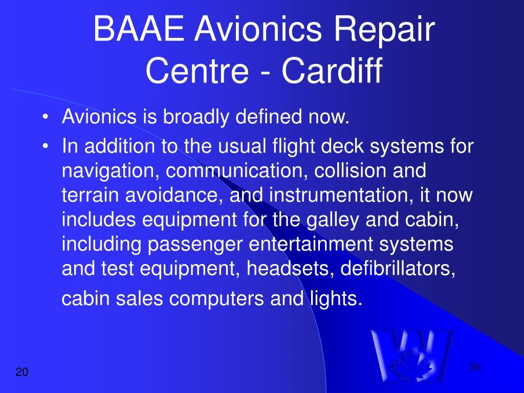 BAAE Avionics Repair Centre - Cardiff