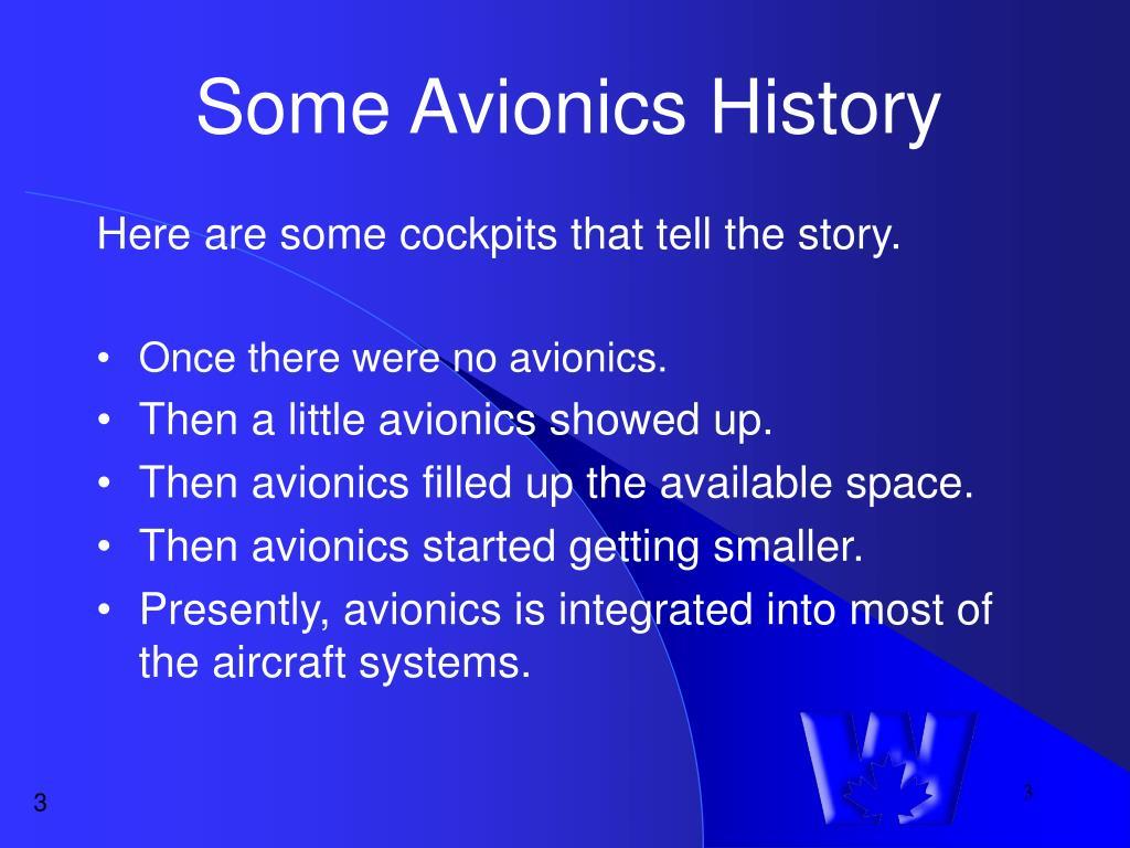 Some Avionics History