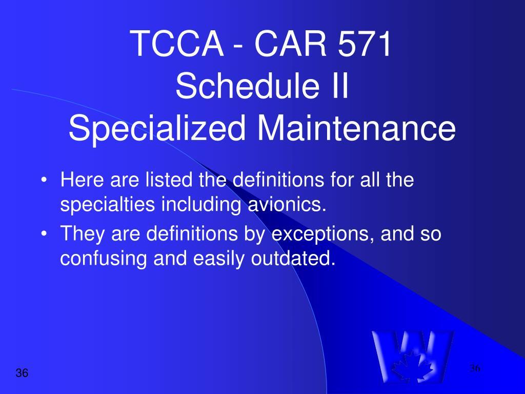 TCCA - CAR 571