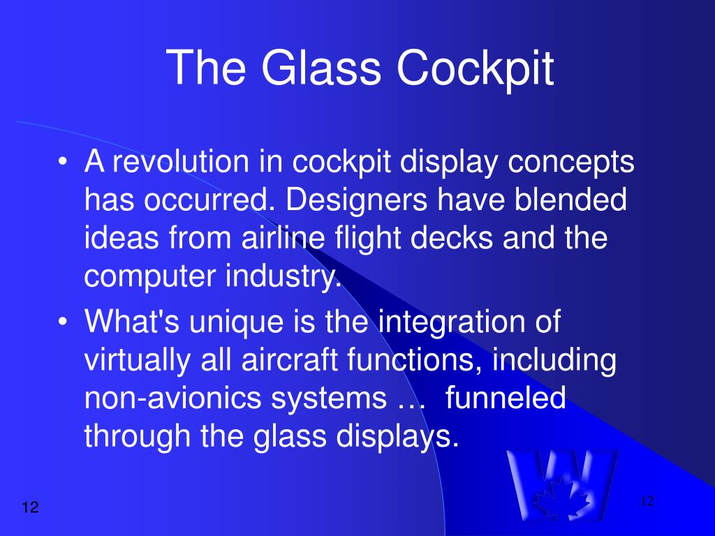The Glass Cockpit