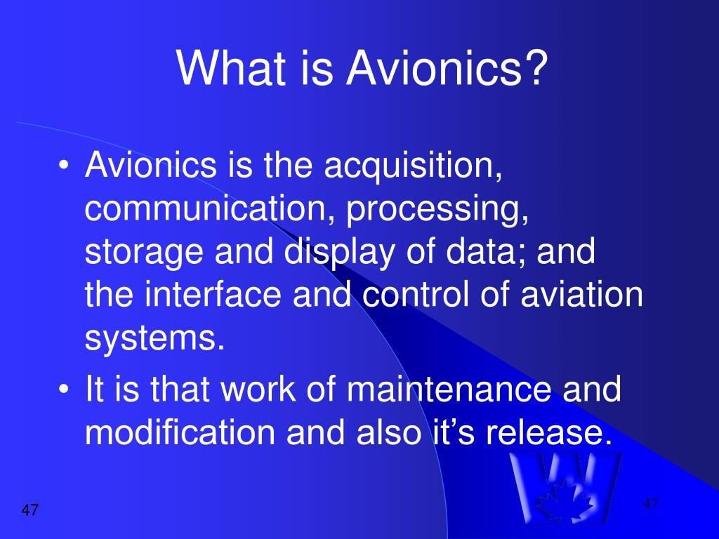 What is Avionics?