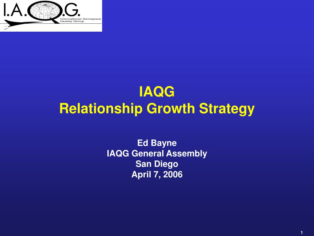 iaqg relationship growth strategy l.