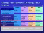 strategy focus streams strategy focus leaders
