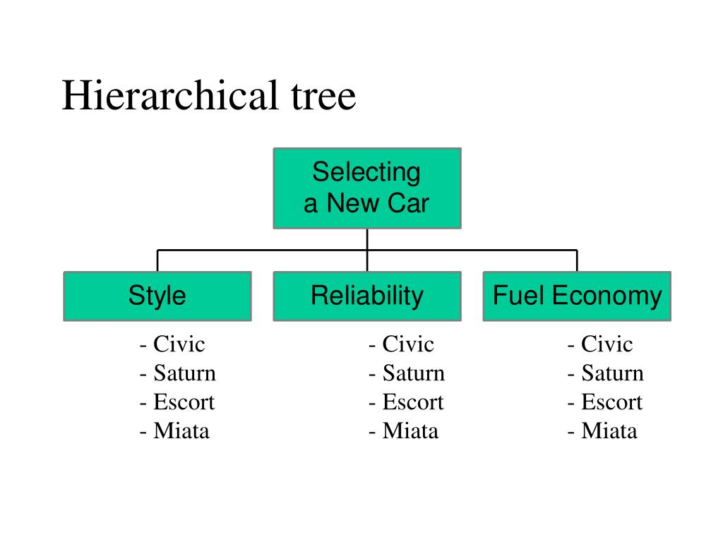Hierarchical tree