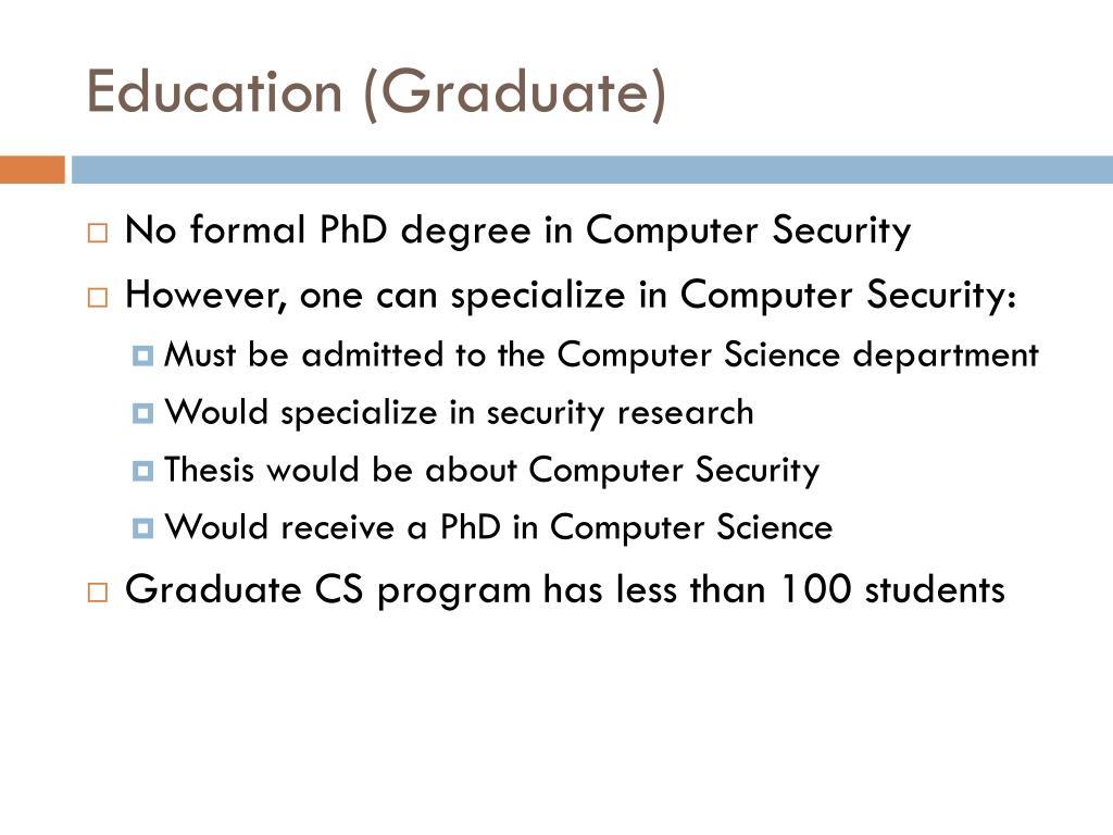 Education (Graduate)