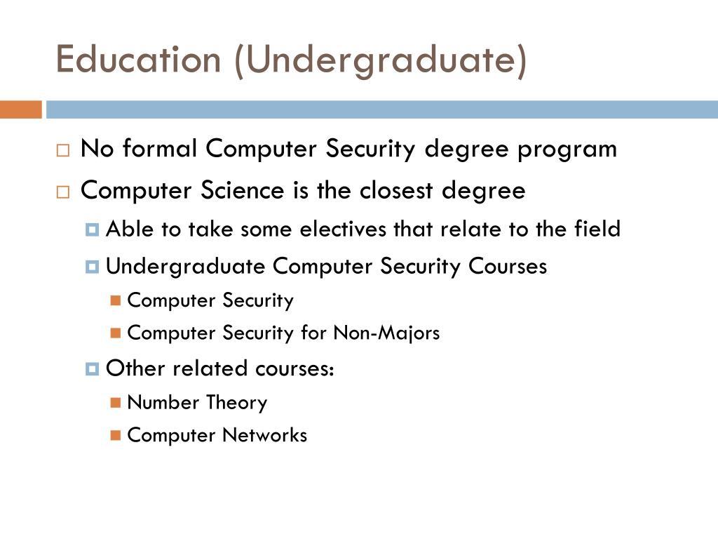 Education (Undergraduate)