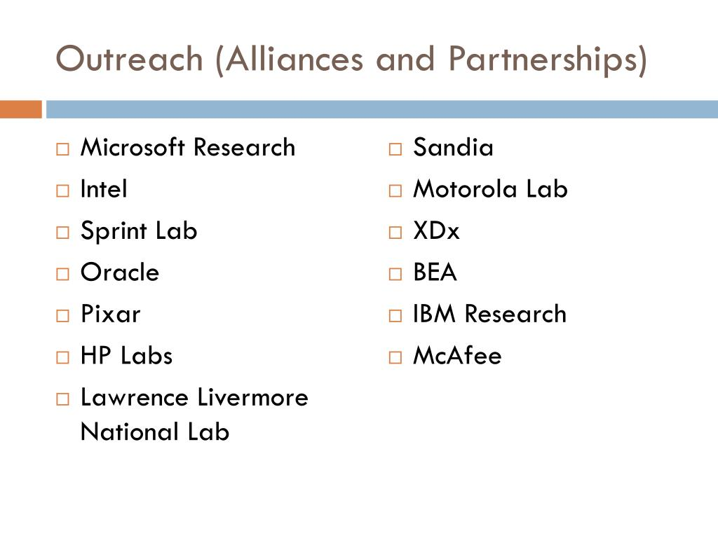 Outreach (Alliances and Partnerships)