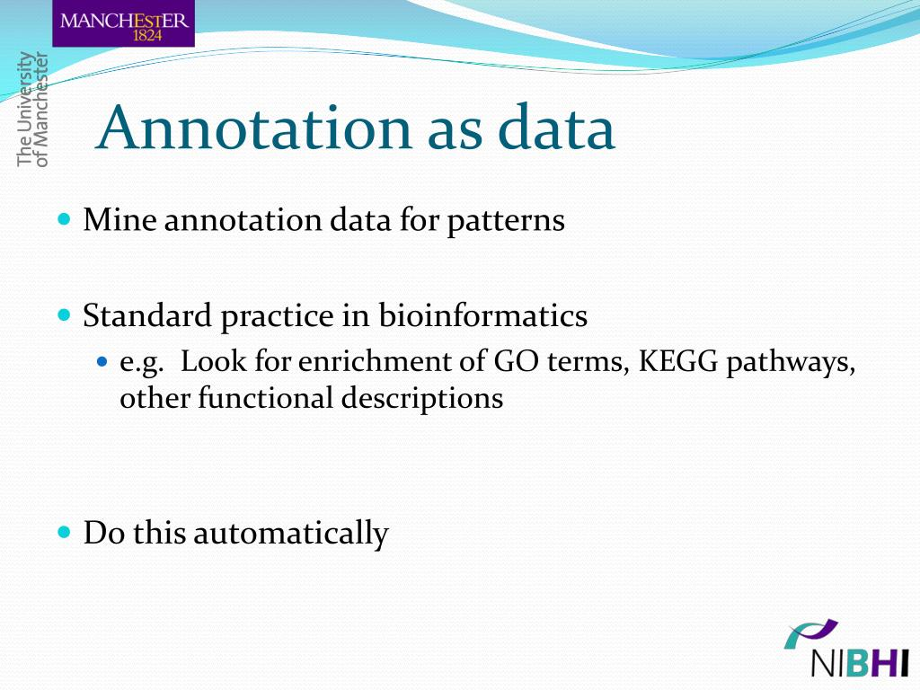 Annotation as data
