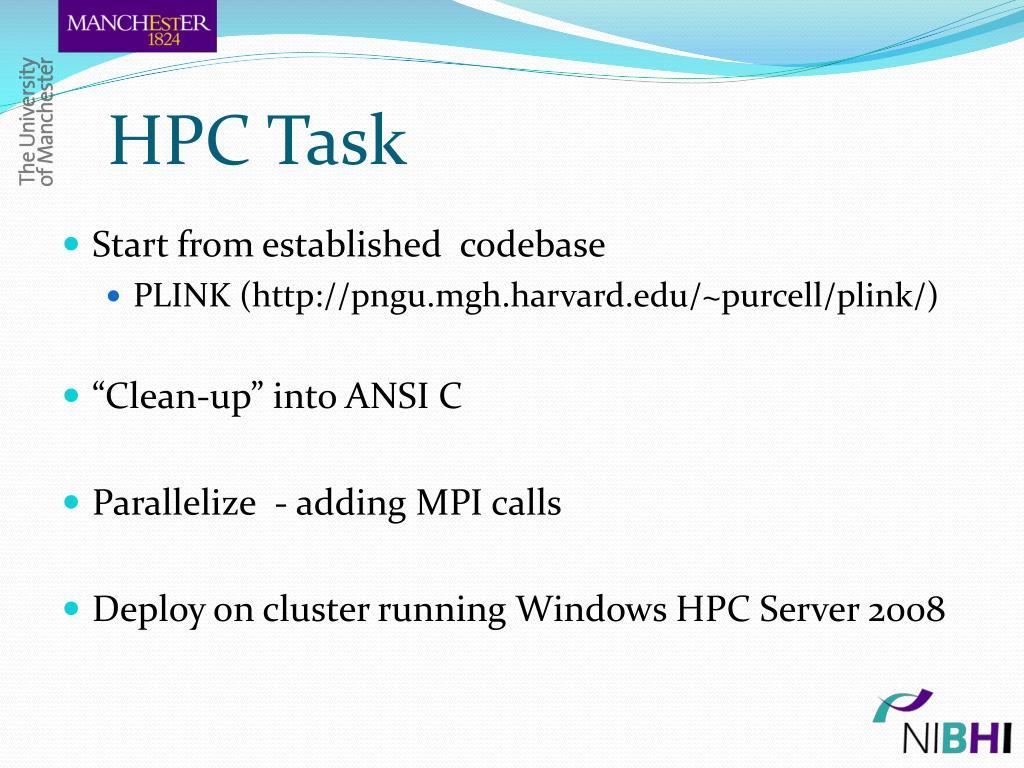 HPC Task