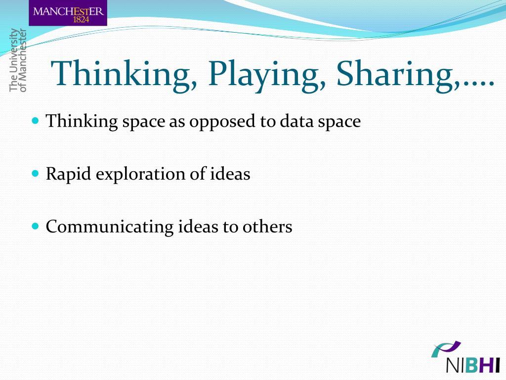 Thinking, Playing, Sharing,….