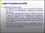 legal compliances 80g