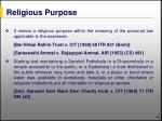 religious purpose