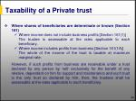 taxability of a private trust