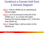 construct a convex hull from a voronoi diagram1